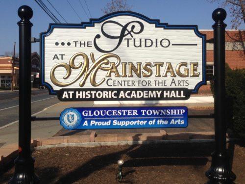 Academy Hall Sign copy